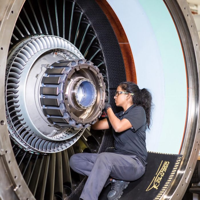 Aerospace engine repair photo