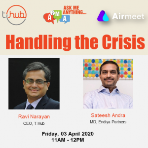 handling the crisis webinar by ravi anarayana and sateesh andra